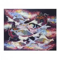 Batik Art Painting,  'Fish...