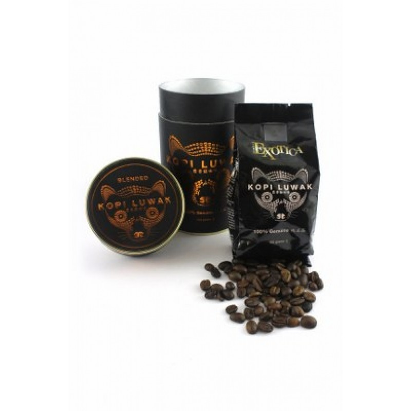 Kopi Luwak Specialty Arabica House Blend Gourmet Coffee Roasted Whole Beans (100g)
