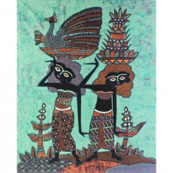 Batik Art Painting,'Village...