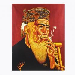 Batik Art Painting, 'Old...