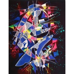 Batik Art Painting, 'Ocean'...